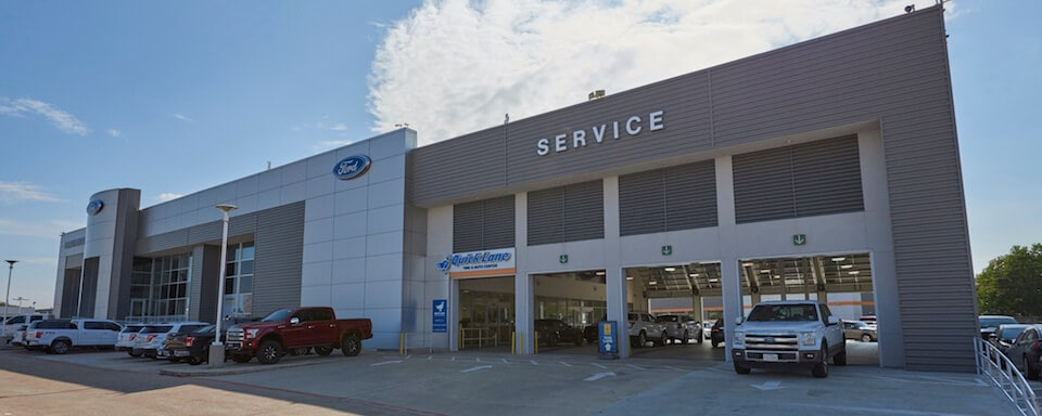 Exterior view of AutoNation Ford Katy service center