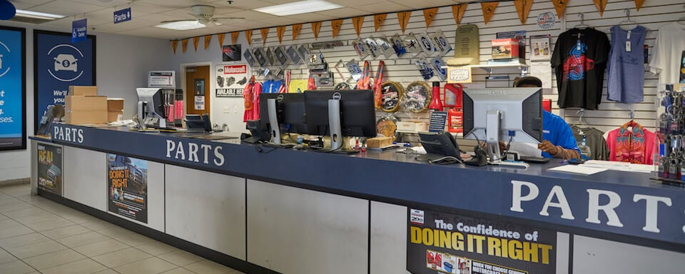 Interior view of Parts Center at AutoNation Ford Margate