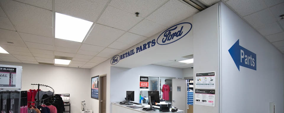 Interior view of Ford Parts Center at AutoNation Ford Marietta