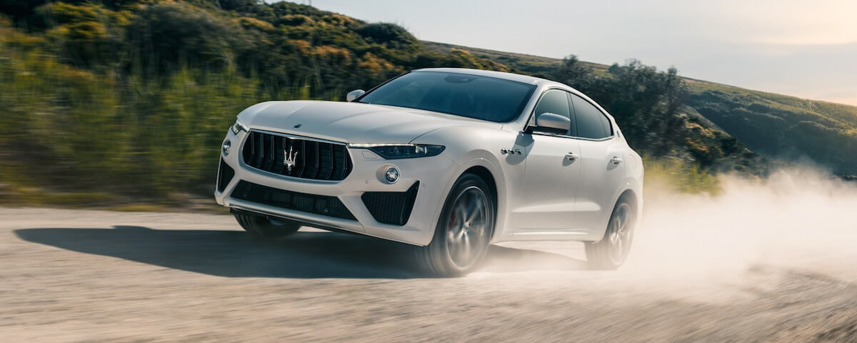 Maserati Levante driving off-road