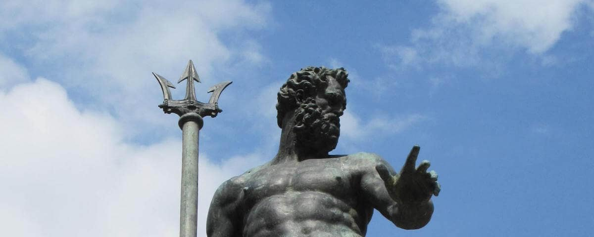 Close up of Statue of Neptune