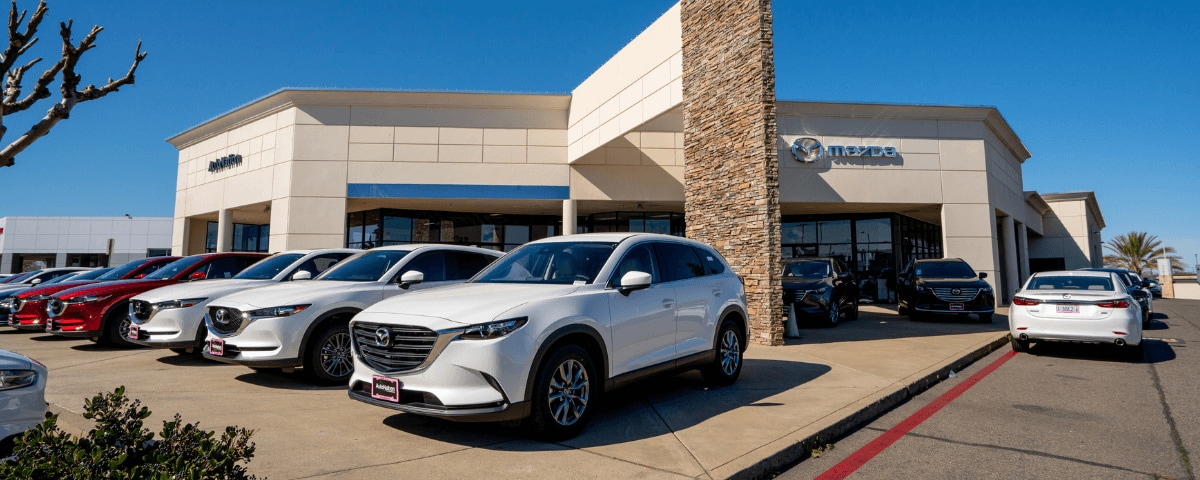 Exterior view of AutoNation Mazda Roseville during the day