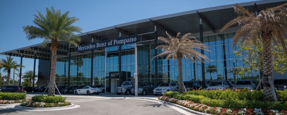 Exterior view of Mercedes-Benz of Pompano