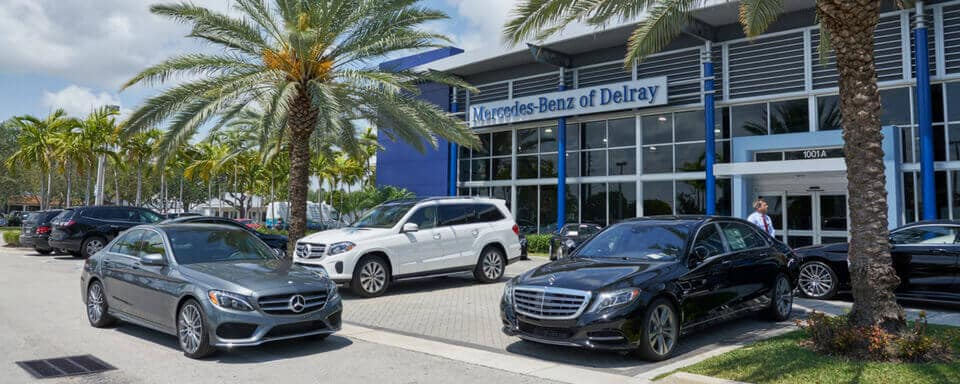 Mercedes-Benz of Delray exterior with new Mercedes-Benz vehicles for sale