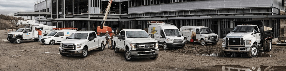 Current Ford commercial and fleet vehicle lineup