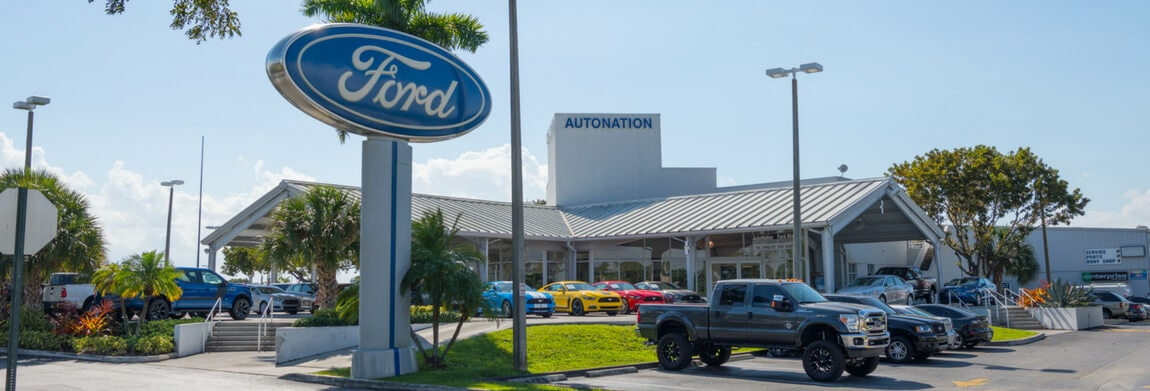 Exterior view of AutoNation Ford Miami