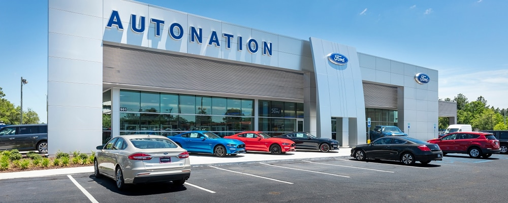Outside view of AutoNation Ford Mobile