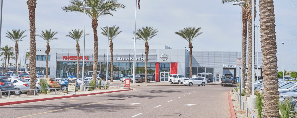 Outside view of AutoNation Nissan Chandler