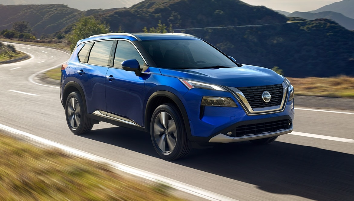 2021 Nissan Rogue in Caspian Blue metallic color