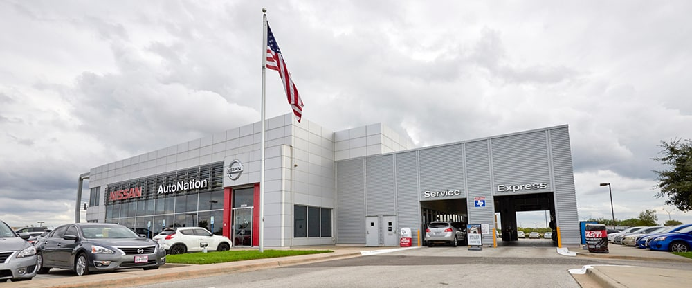 Exterior of AutoNation Nissan Katy Service Center
