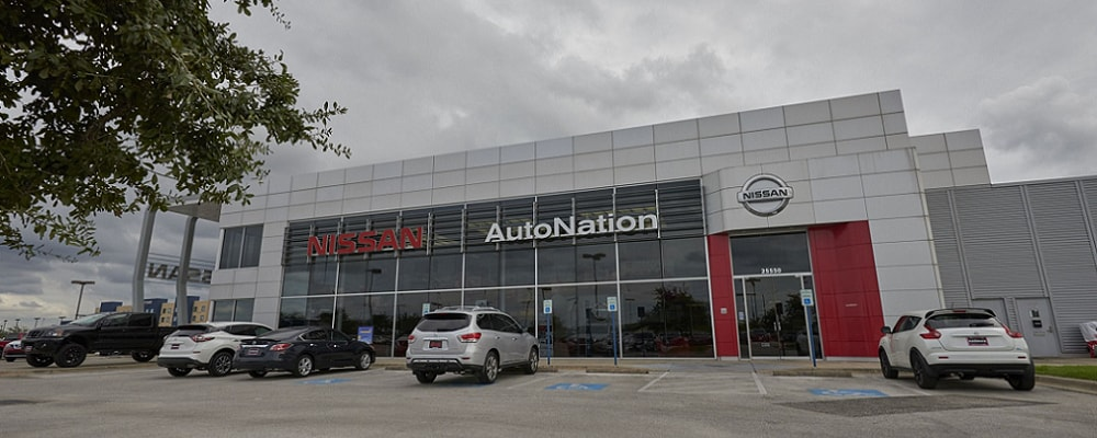 Exterior view of AutoNation Nissan Katy Serving Missouri City