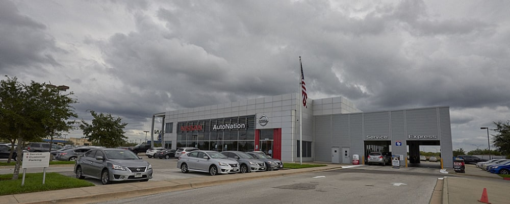 Exterior view of AutoNation Nissan Katy Serving Houston