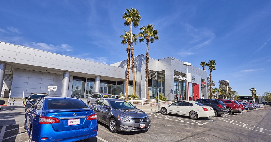 Exterior view of AutoNation Nissan Las Vegas Serving Enterprise