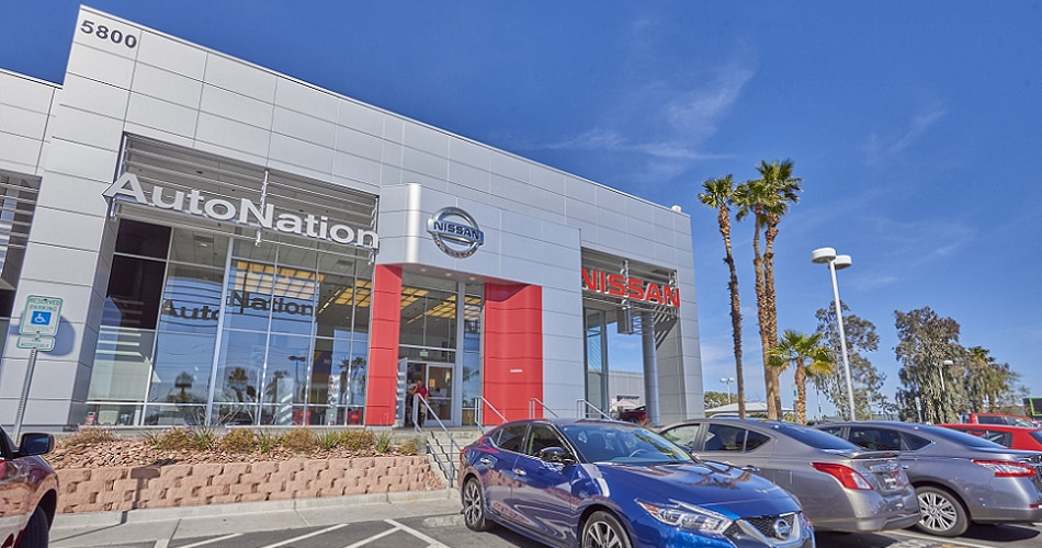 Exterior view of AutoNation Nissan Las Vegas Serving Spring Valley