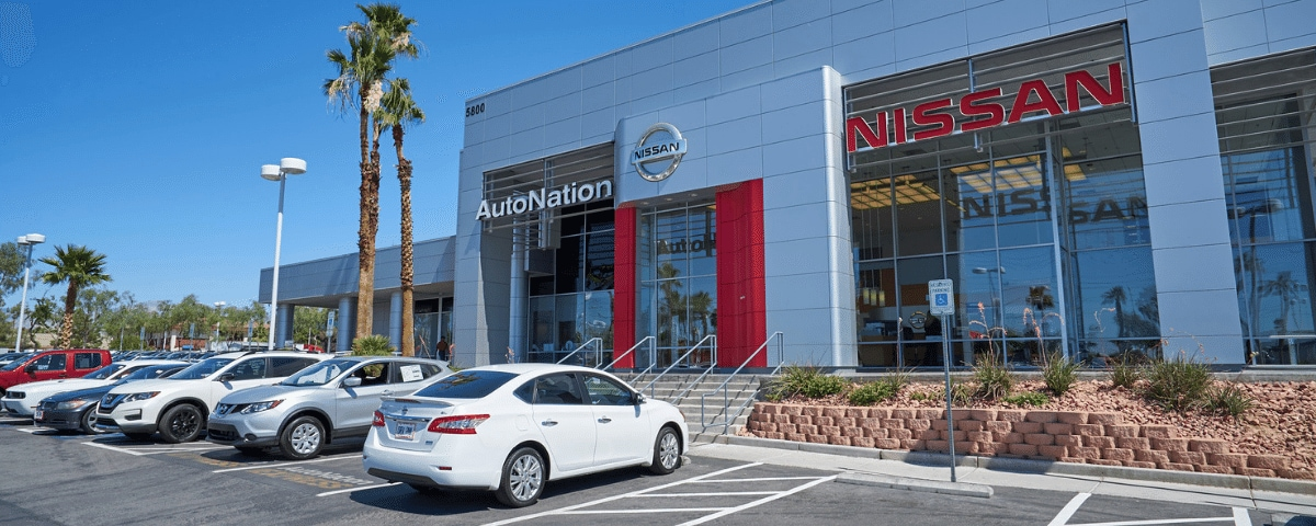 Exterior view of AutoNation Nissan Las Vegas
