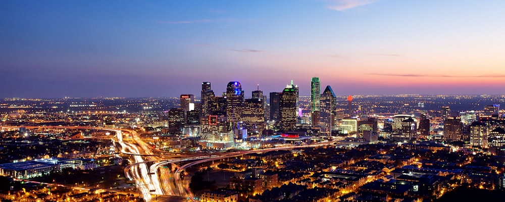 Scenic view of Dallas, TX