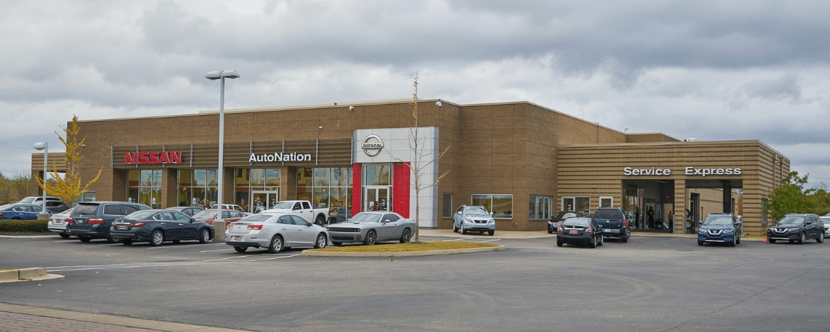 Exterior view of AutoNation Nissan Memphis