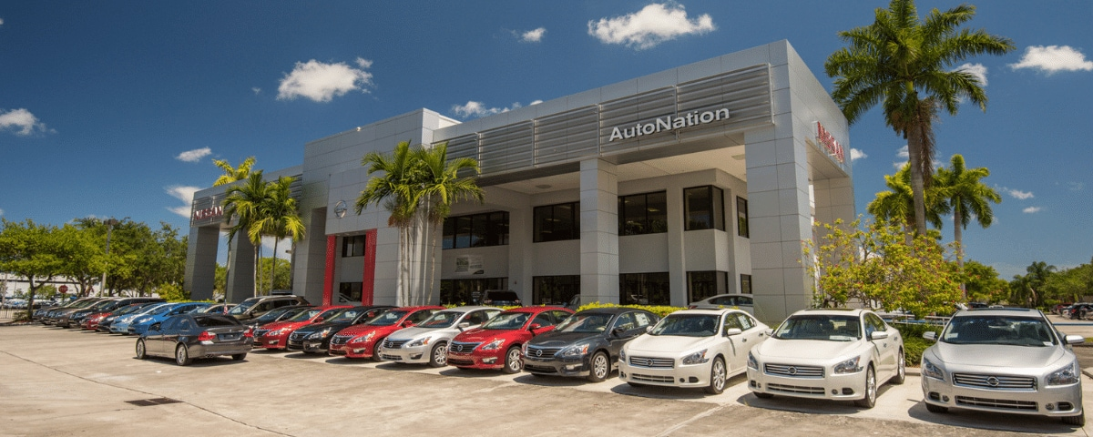 Outside view of AutoNation Nissan Pembroke Pines