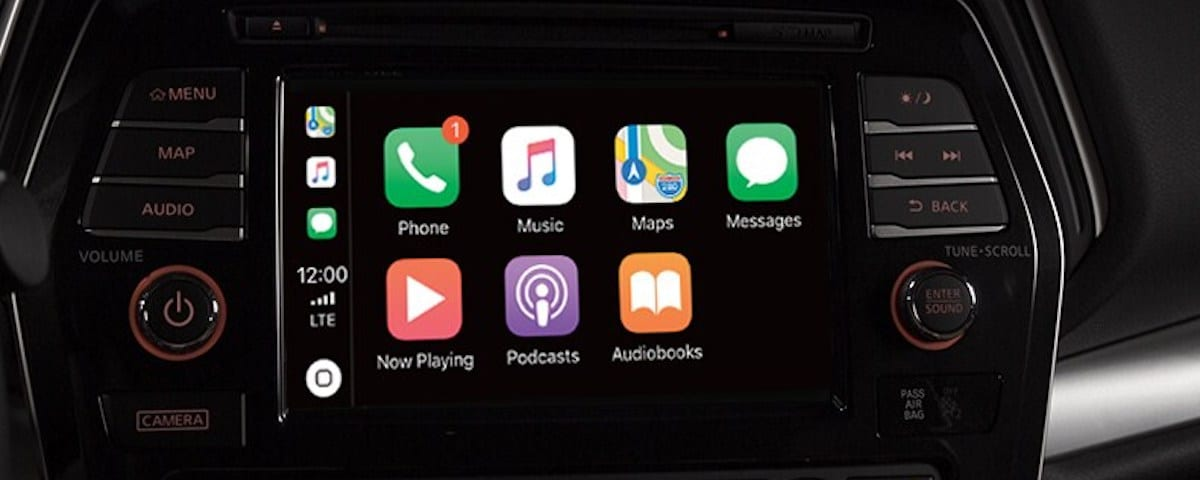 Nissan Apple CarPlay screen