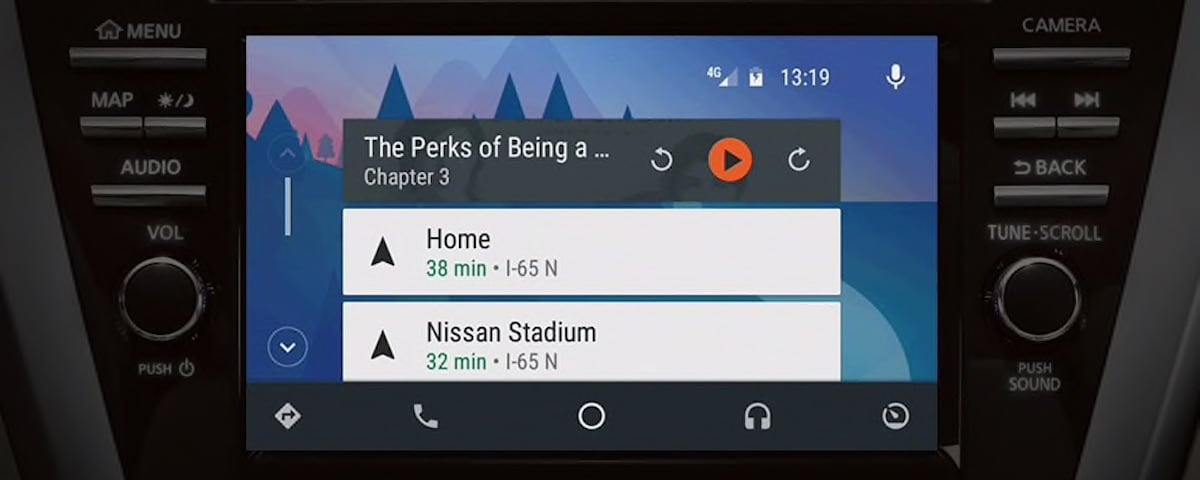 Nissan Android Auto screen