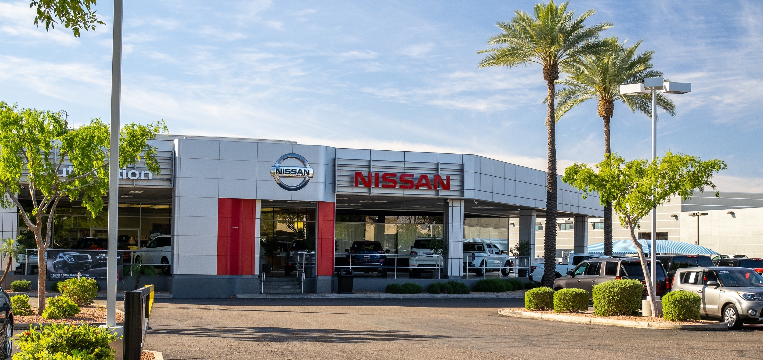 Exterior view of AutoNation Nissan Tempe