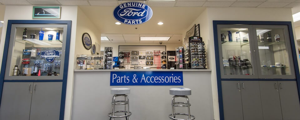 Interior view of the AutoNation Ford St Petersburg parts counter