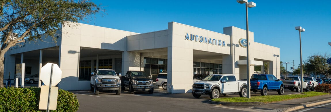 Exterior view of AutoNation Ford St. Petersburg