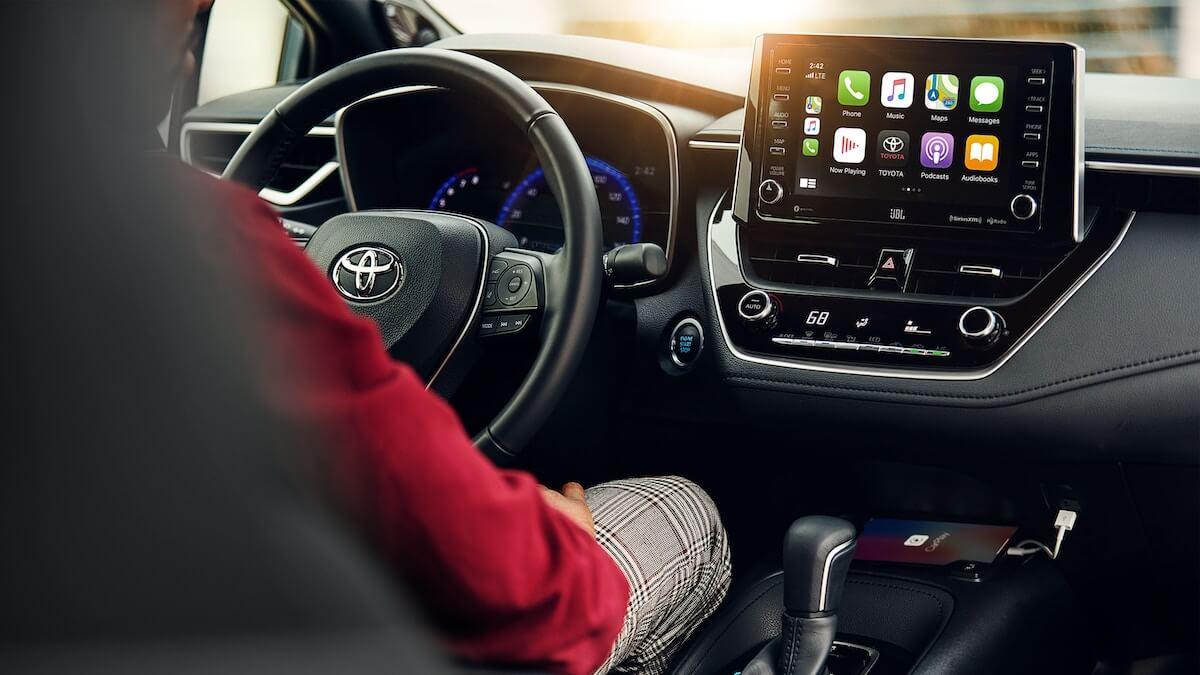 2021 Toyota Corolla interior with Apple CarPlay