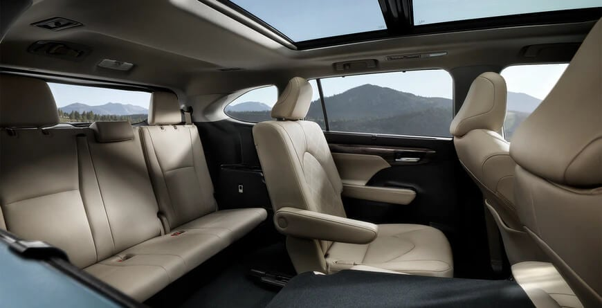 2021 Toyota Highlander third-row seating