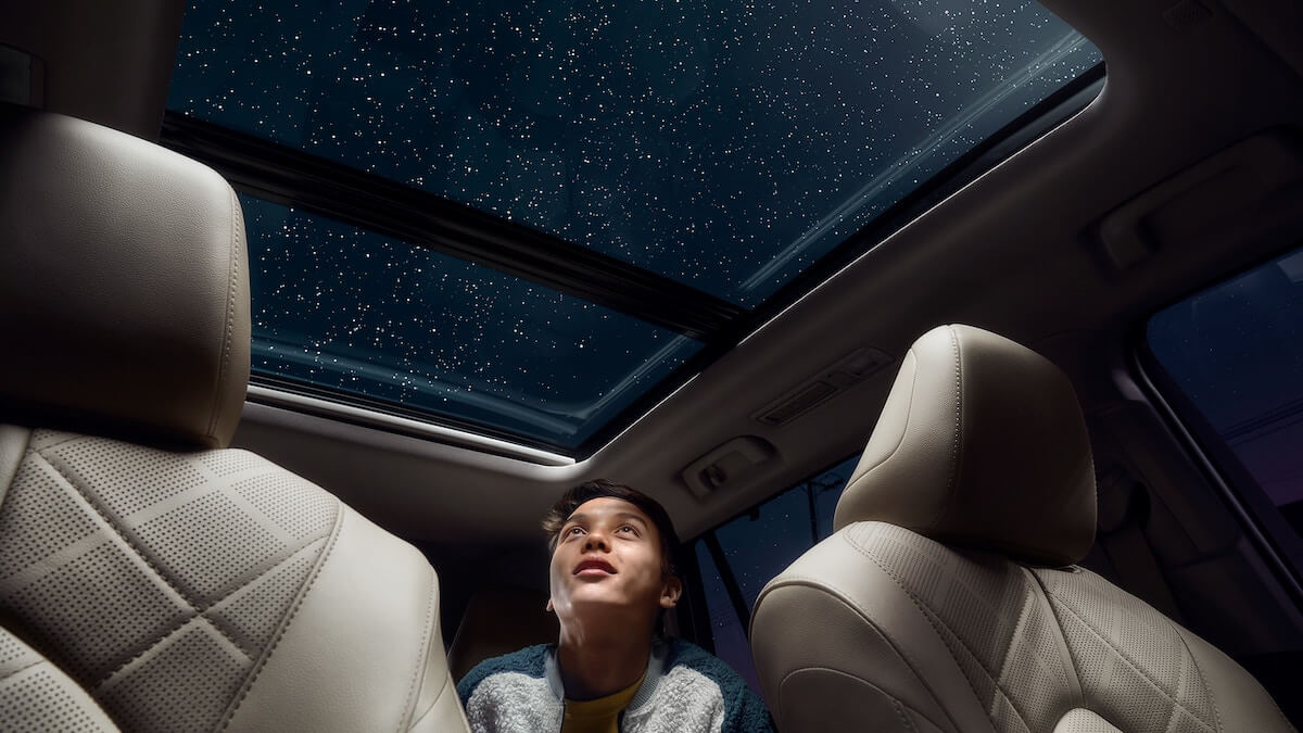 2021 Toyota Highlander with available moonroof