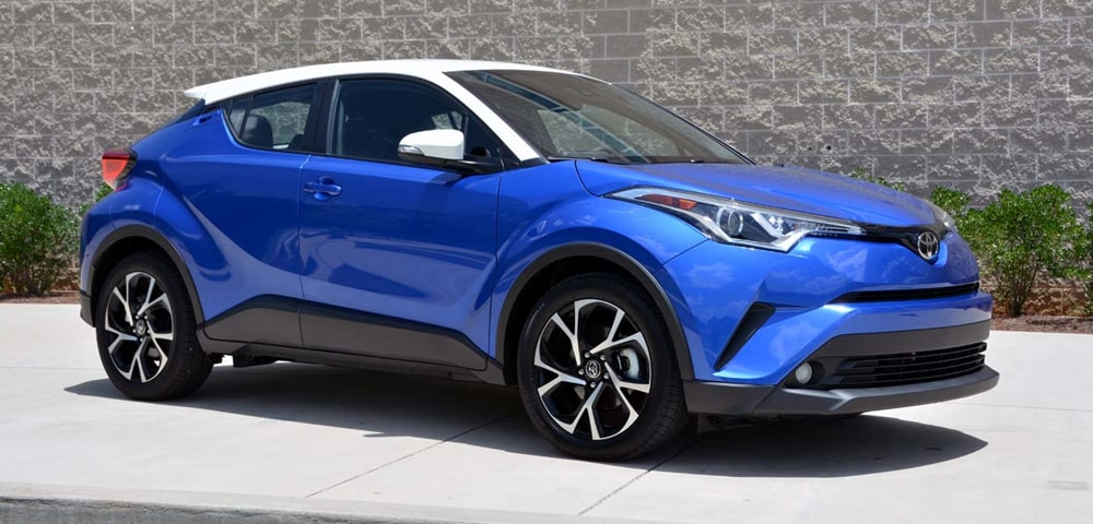 Front three-quarter view of 2018 Toyota C-HR