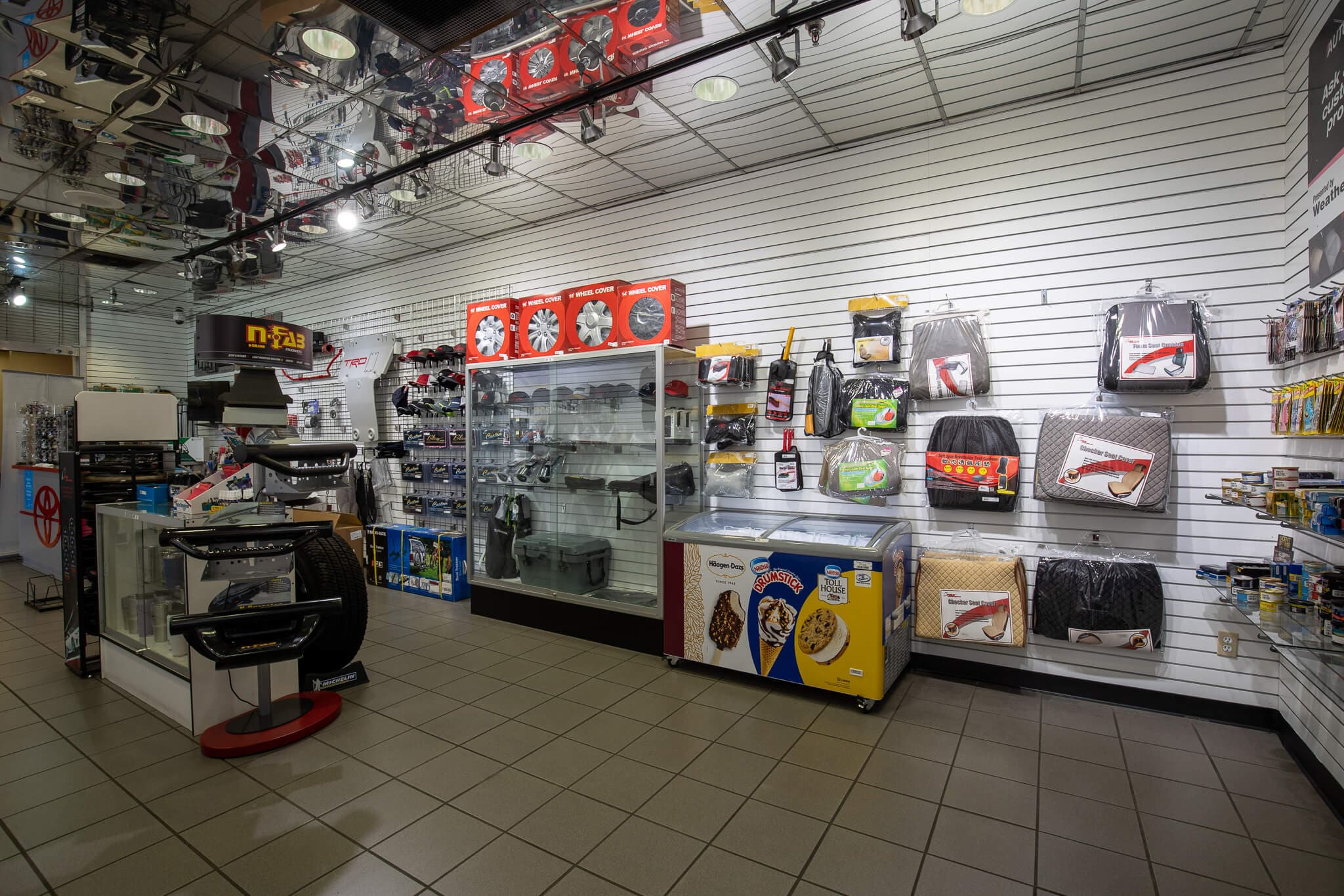 Interior view of the AutoNation Toyota Buena Park parts counter