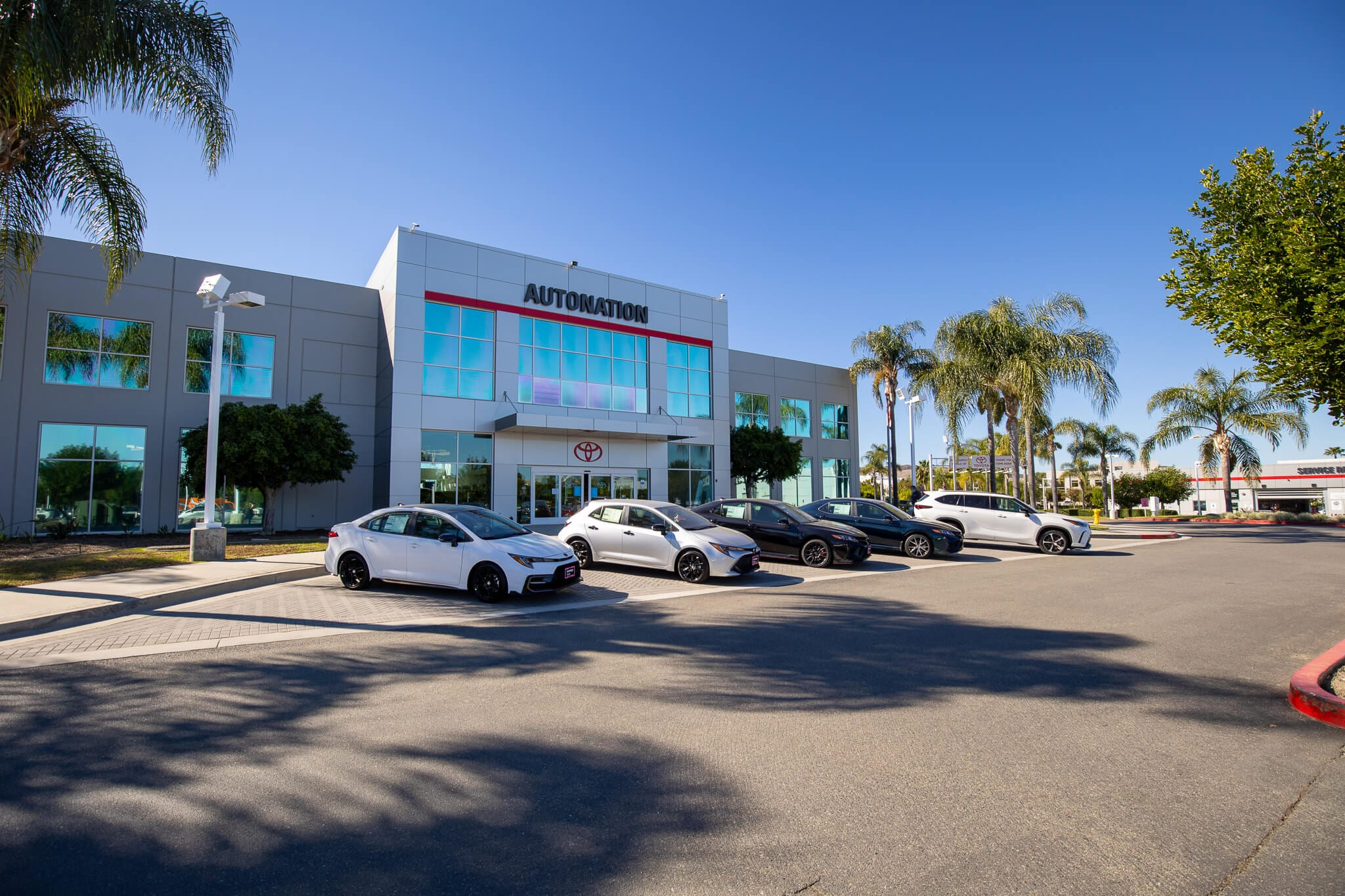 Exterior view of AutoNation Toyota Irvine in Irvine, CA