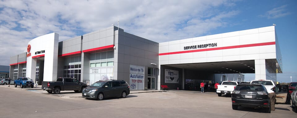 Exterior view of AutoNation Toyota Corpus Christi Service Center