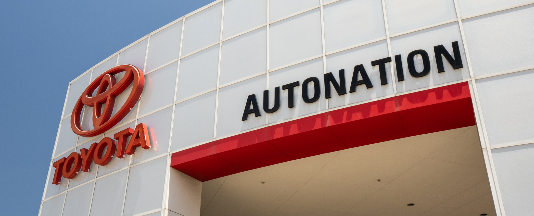 Exterior view of AutoNation Toyota Gulf Freeway