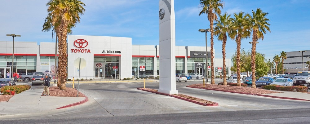 Exterior view of AutoNation Toyota Las Vegas during the day