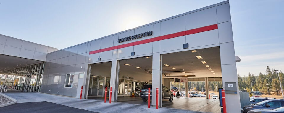 Exterior view of AutoNation Toyota Spokane Valley Service Center