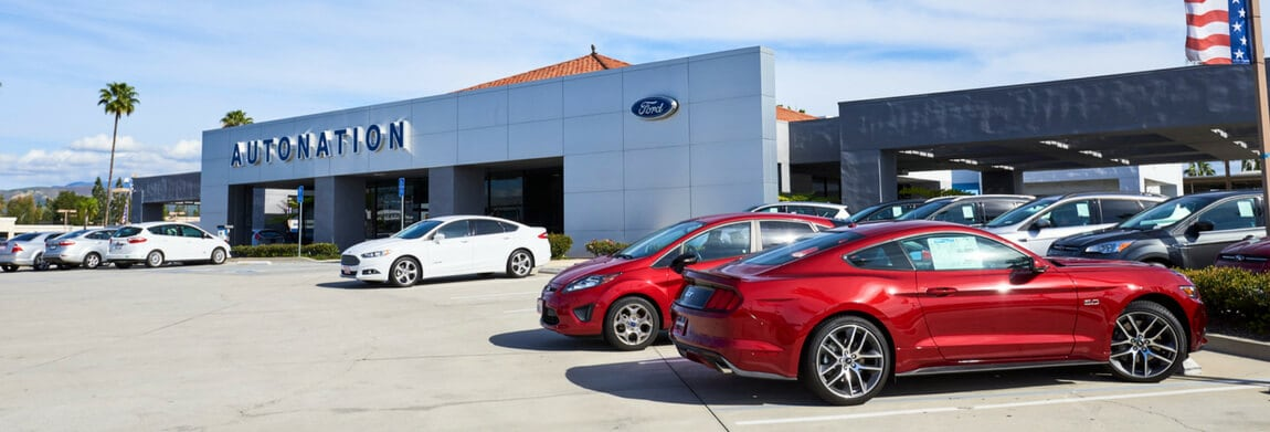 Exterior view of AutoNation Ford Tustin