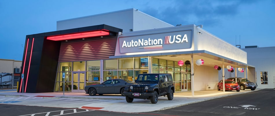 Exterior view of AutoNation USA Corpus Christi Used Car Dealership