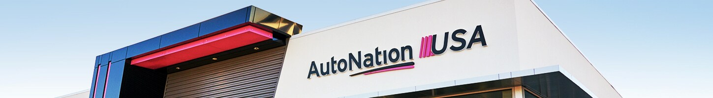 Exterior view of AutoNation USA Henderson used car dealership