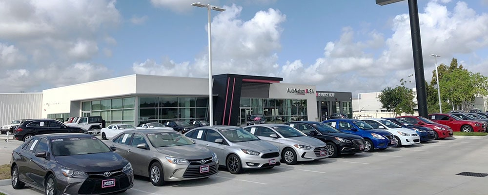 Exterior view of AutoNation USA Katy