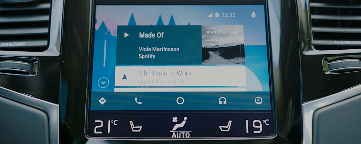 Android Auto on Volvo dashboard
