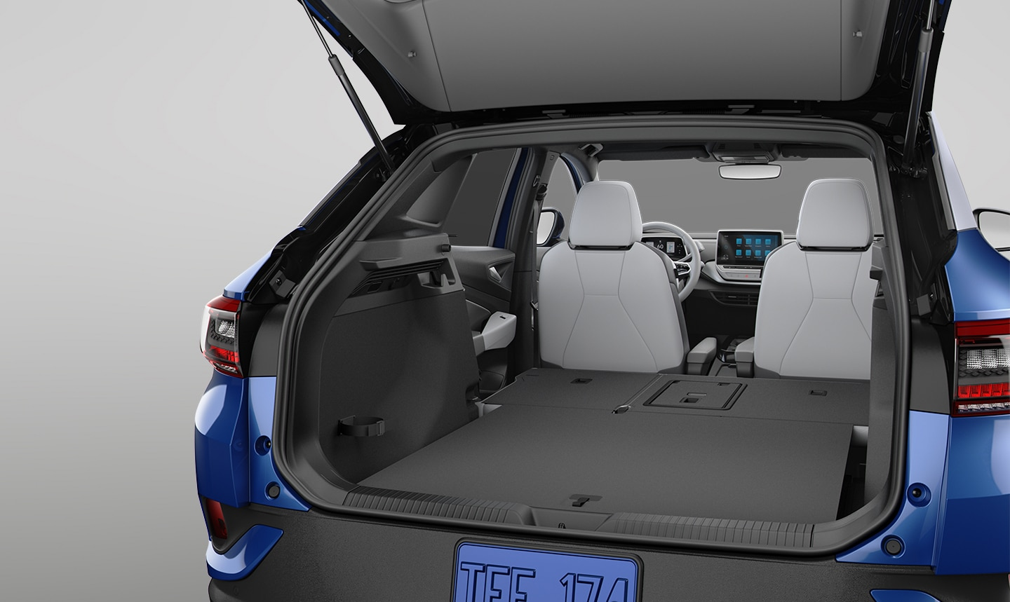 VW ID.4 60/40 split folding rear seats with up to 64.2 ft³ of rear cargo space