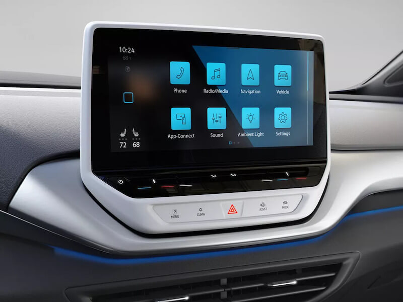 VW ID.4 12 inch touchscreen