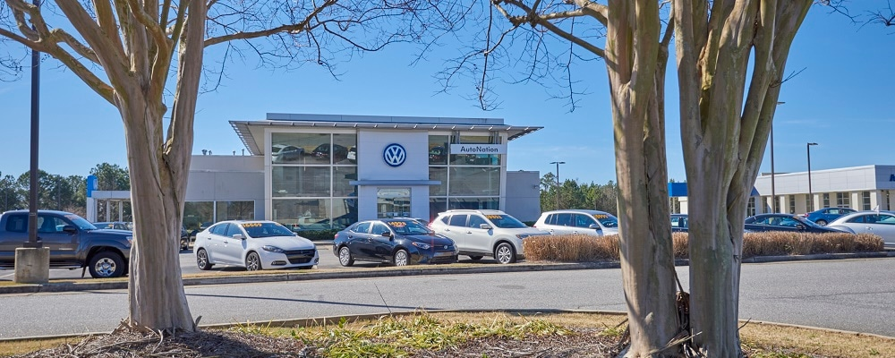 View of AutoNation VW Columbus in the Fort Benning area