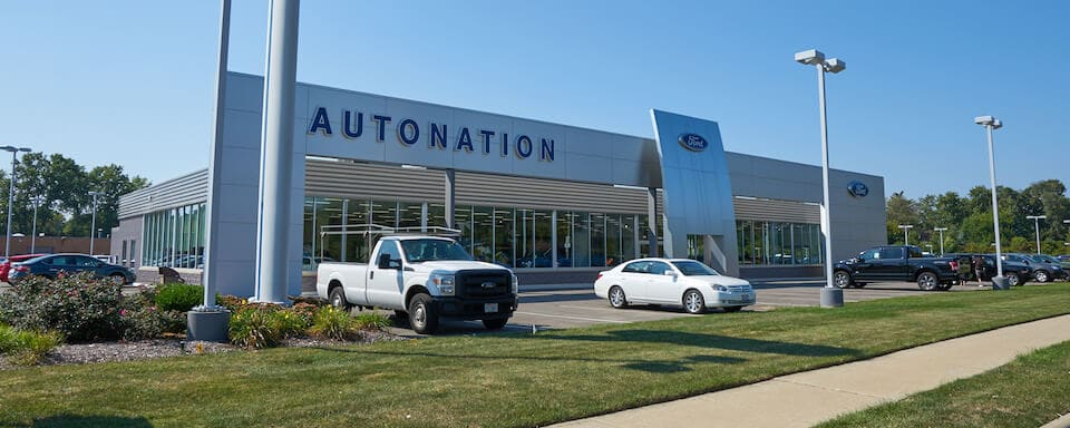 Exterior shot of AutoNation Ford Westlake dealership