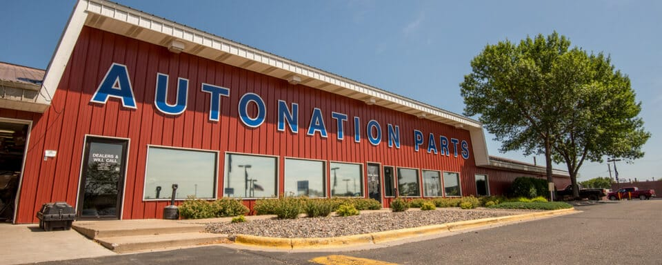AutoNation Ford White Bear Lake parts center exterior