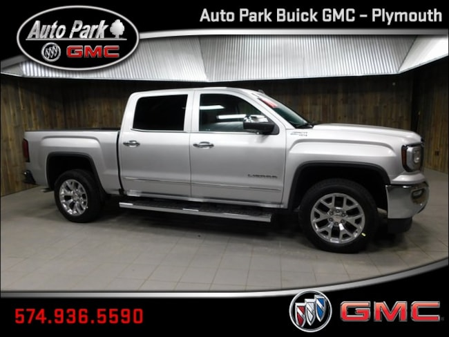 New 2018 GMC Sierra 1500 SLT Truck Crew Cab 3GTU2NEC2JG592803 for Sale in Plymouth, IN at Auto Park Buick GMC