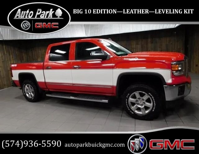 Used 2015 GMC Sierra 1500 SLT Truck Crew Cab for sale in Plymouth, IN at Auto Park Buick GMC