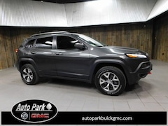 Used 2016 Jeep Cherokee Trailhawk 4x4 SUV 1C4PJMBSXGW185764 for Sale in Plymouth, IN at Auto Park Buick GMC
